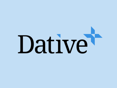 Hello, we're Dative. dative logo identity startup