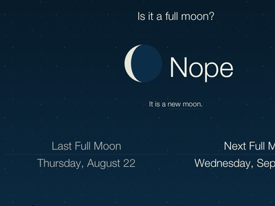 Is it a full moon? web app responsive svg