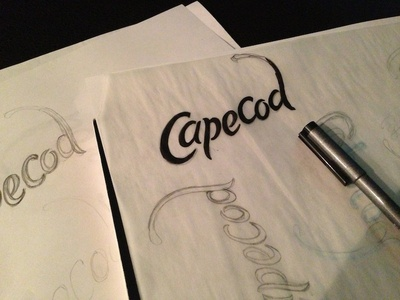 Cape Cod Script script lettering type sketch copic cape cod