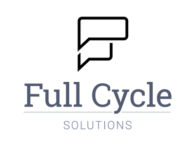 Full Cycle Solutions Branding full cycle cycle logo design logo branding