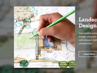 Landscaping Contractor Website UI