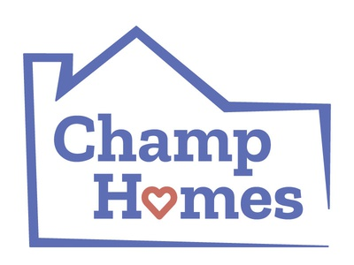 Champ Homes Logo Design non-profit organization ui design logo design branding