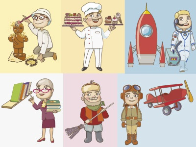 profession2 illustration vector children education