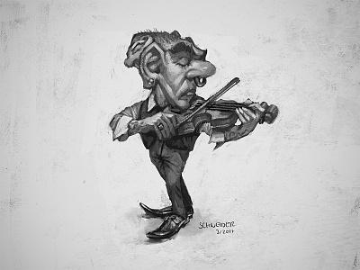 Violinist Gnome violin drawing gnome dwarf sketchbook conceptart sketch fantasy portrait characterdesign character illustration