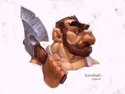 Lumberjack Dwarf lumberjack drawing gnome dwarf sketchbook conceptart sketch fantasy characterdesign character illustration