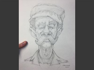 Tickets Pleease!! mustache luigi portrait pencil drawing sketchbook conceptart sketch characterdesign character illustration