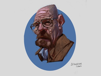 Walter White Sketch photoshop painting caricature bryan cranston breaking bad mustache sketchbook sketch character illustration