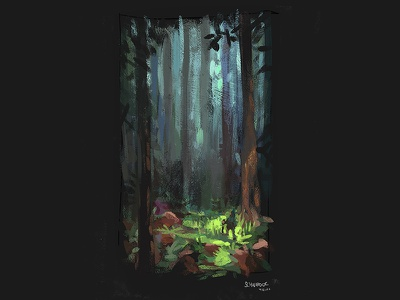 Forest Sketch doodle fantasy painting gnome forest photoshop sketch characterdesign character illustration