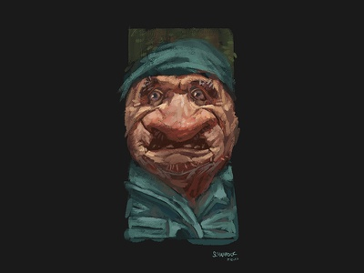 Another Gnome Sketch nose caricature characterdesign dwarf portfolio painting gnome photoshop character illustration