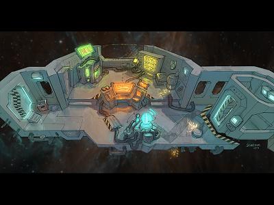 Star Crew Mercenaries Concept Art concept gamedesign gamedev environment scifi space concepart photoshop illustration