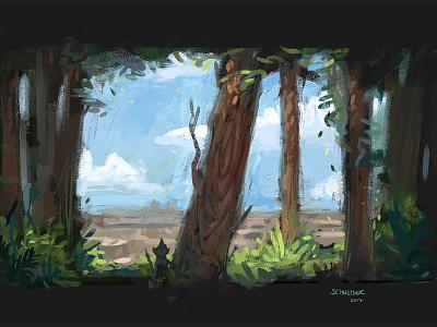 More Gnome Sketches landscape tree nature forest gnome dwarf conceptart sketch fantasy characterdesign illustration