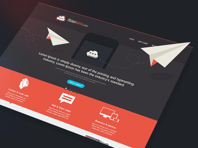 Hero Section header illustration icons envelope home web 3d flat