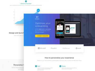 Optimize Your Onboarding charts home web