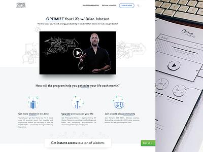 Membership Page wireframes drawings illustrations icons web membership