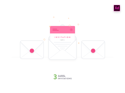 3 Invitations icon envelope experience design xd adobe invite dribbble