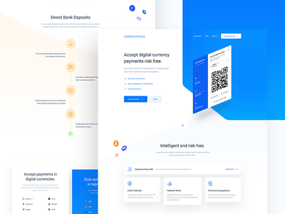 Cryptocurrency Site bitcoin 3d gradients blue cryptocurrency web