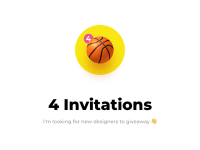4 Invitations giveaway basketball ball invitations invites dribbble