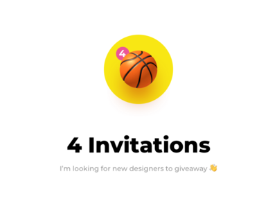 4 Invitations giveaway basketball ball invitations invites dribbble