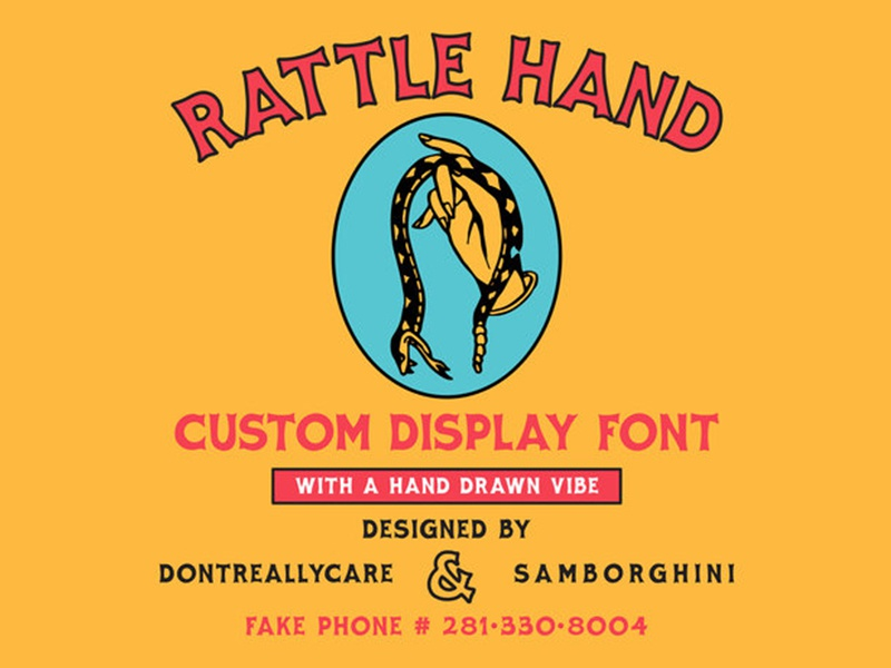 Rattle Hand Custom Font for kernclub.com letters hand drawn typography font