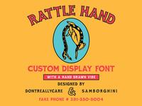 Rattle Hand Custom Font for kernclub.com