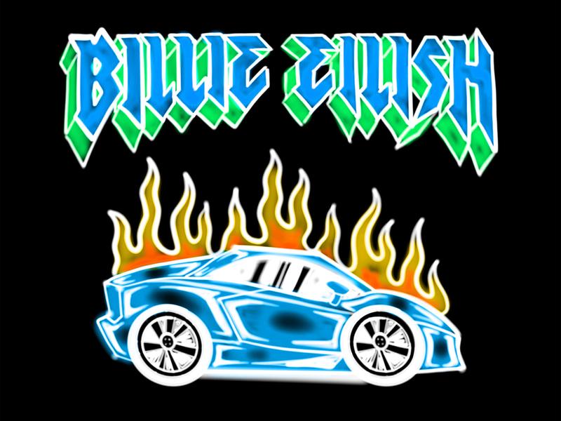Billie Eilish burning car airbrush by Samborghini on Dribbble