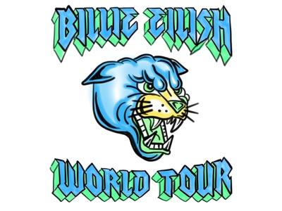 Billie Eilish World Tour shirt graphic