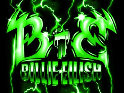 billie eilish airbrush metal logo