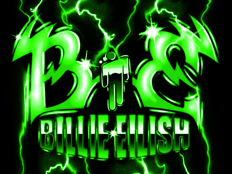Billie Eilish Airbrush Metal Logo By Samborghini On Dribbble