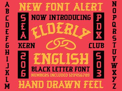 elderly english font