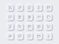 Neumorphism Icon Set