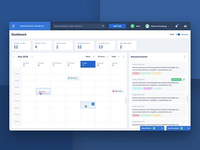 Healthcare App Dashboard medical app web app design healthtech dashboard clinical healthcare