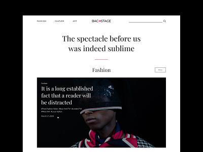 Backstage —  Fashion, Culture, Art. magazine fashion media fashion brand ecommerce design app design logo design