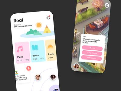 Concept for a Mindfulness Mobile App psychology mindfulness design agente concept design concept ux design ui design