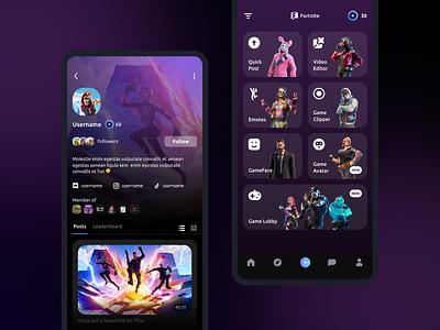 Mobile Design of an App for Gamers agente design games game design mobile app agente-process ui design
