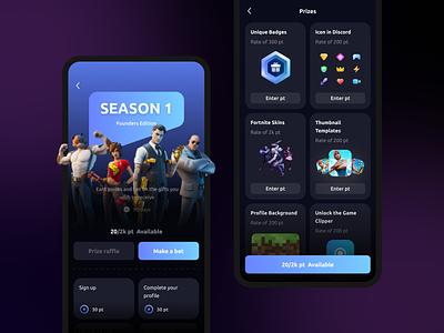 Mobile Design of an App for Gamers mobile design mobile app design game design agente-process ux design agente ui design