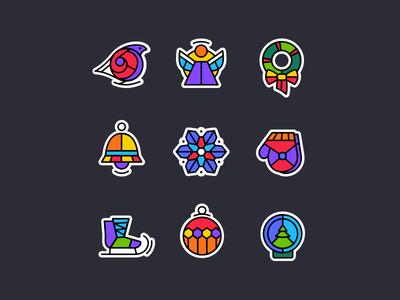 Agente Xmas Icons Set