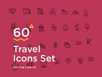 60 Travel Icons Set