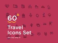 60 Travel Icons Set