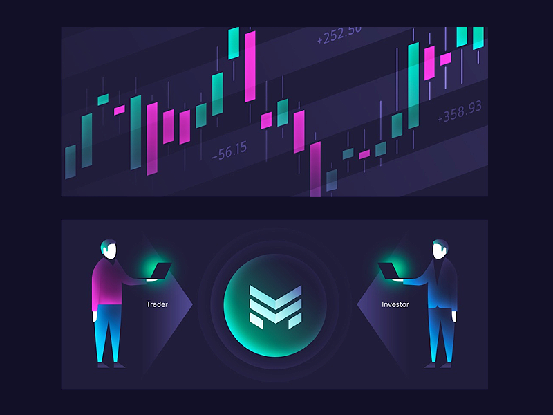 Cryptocurrency trading Platform Graphics trading cryptocurrency illustration