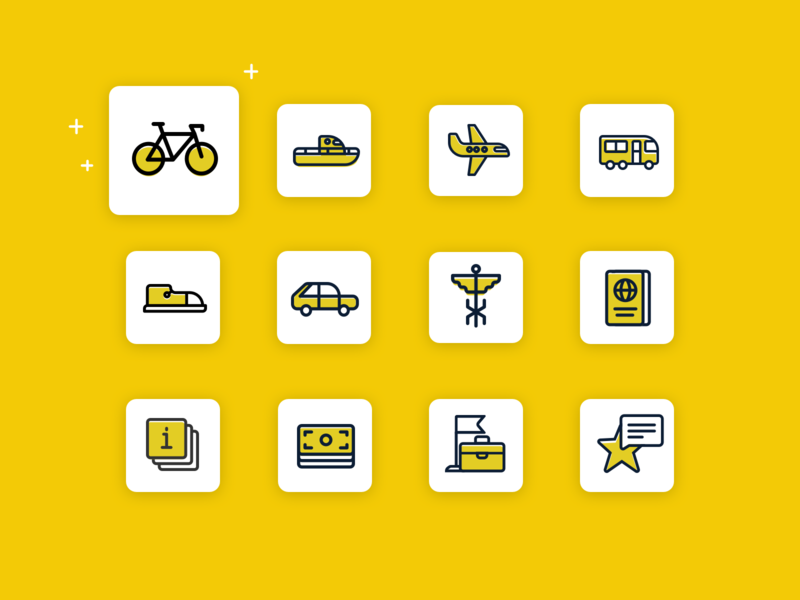 Traveling Icon Set branding vector illustration icon set travel app traveling ui icons