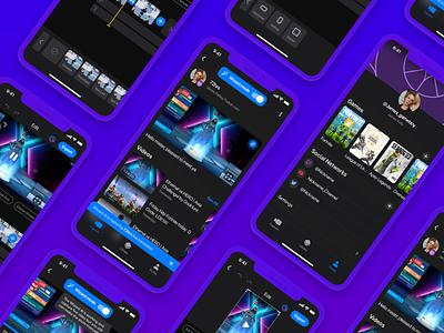 Game Streaming App app concept streamers gamers mobile app design mobile design app design game design