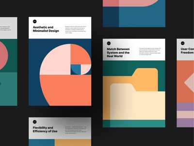 10 Usability Heuristics | Posters by Agente ux design agente heuristic evaluation ui principles heuristics posters