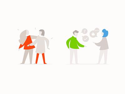 Communication ui design elearning lms custom illustration people illustration illustration communication
