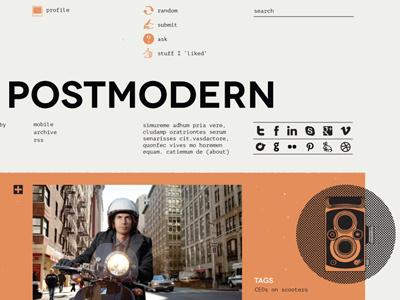 Tumblr Theme tumblr grid layout web postmodern icon illustration