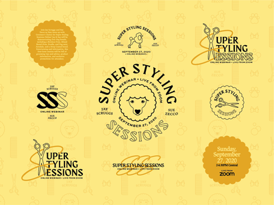 Groom Webinar Brand Refresh badge logo badges typography vector illustration logo brand identity branding