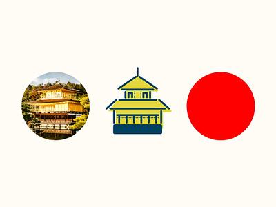ICON - KYOTO, JAPAN illustration icon