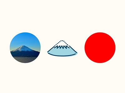 ICON - Mt Fuji, JAPAN design illustration icon