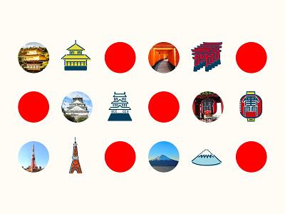 ICON - JAPAN design illustration icon