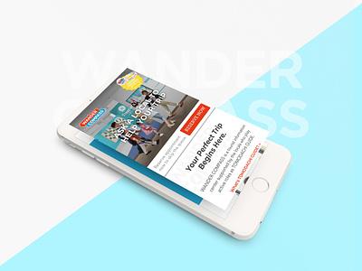 Tourist's hub : WANDER COMPASS travel ui design web