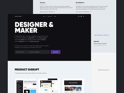 darshan.design gilroy case study side project grid timeline header typography cards portfolio website portfolio